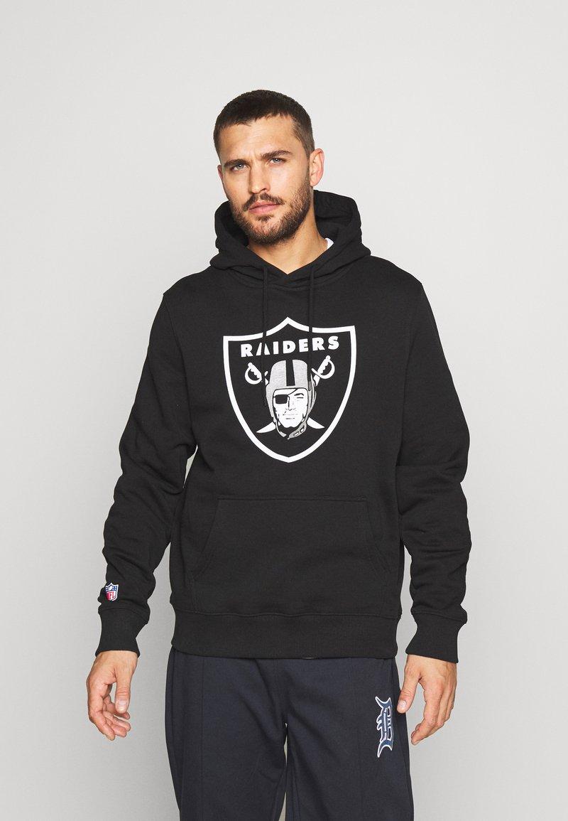 Fanatics - NFL OAKLAND RAIDERS ICONIC PRIMARY LOGO GRAPHIC HOODIE - Kapuzenpullover - black