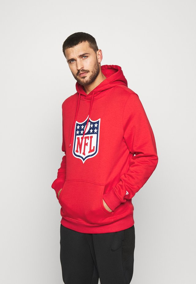 NFL ICONIC SECONDARY LOGO GRAPHIC HOODIE - Hoodie - uni red