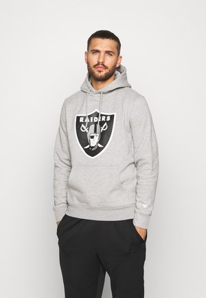 NFL OAKLAND RAIDERS ICONIC SECONDARY COLOUR LOGO GRAPHIC HOODIE - Jersey con capucha - grey marl
