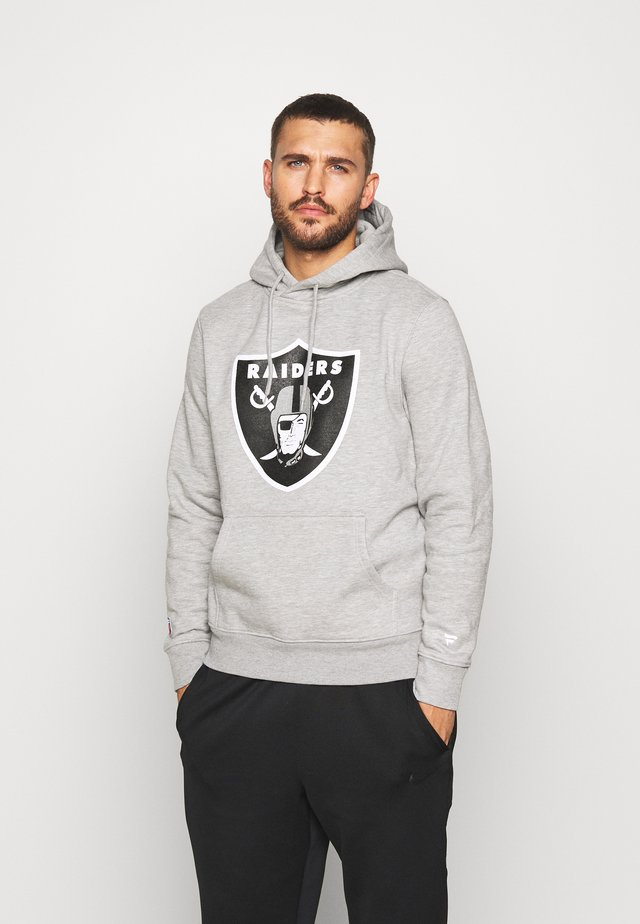 NFL OAKLAND RAIDERS ICONIC SECONDARY COLOUR LOGO GRAPHIC HOODIE - Hættetrøjer - grey marl