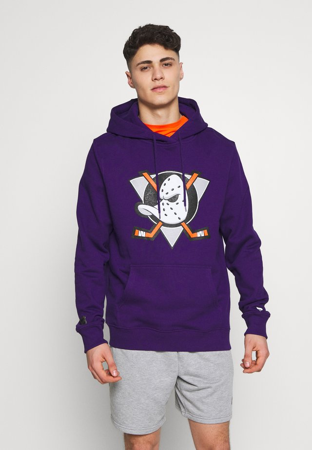 NHL ANAHEIM DUCKS ICONIC SECONDARY COLOUR LOGO GRAPHIC HOODIE - Klubbkläder - purple