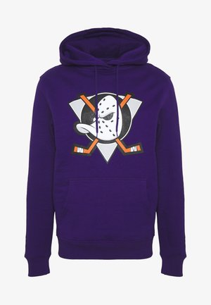 NHL ANAHEIM DUCKS ICONIC SECONDARY COLOUR LOGO GRAPHIC HOODIE - Equipación de clubes - purple