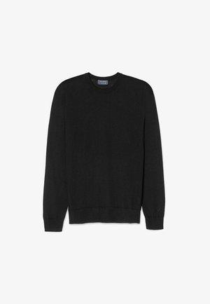 RUNDHALS-PULLOVER AUS CASHMERE ULTRALIGHT - Sweatshirt - black