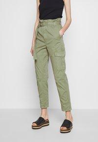 Frame Denim - SAFARI WIDE LEG TROUSER - Trousers - waod - 0