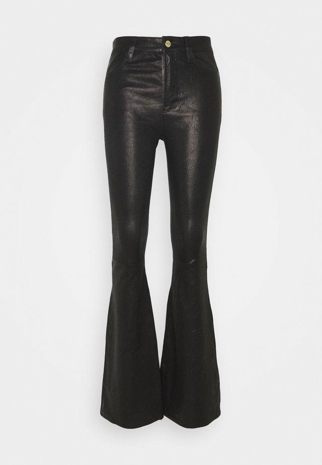 HIGH FLARE - Pantaloni di pelle - noir