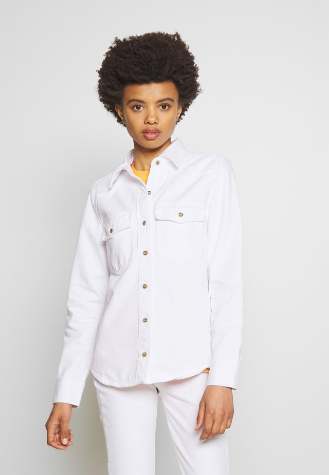 HERITAGE DENIM - Koszula - blanc