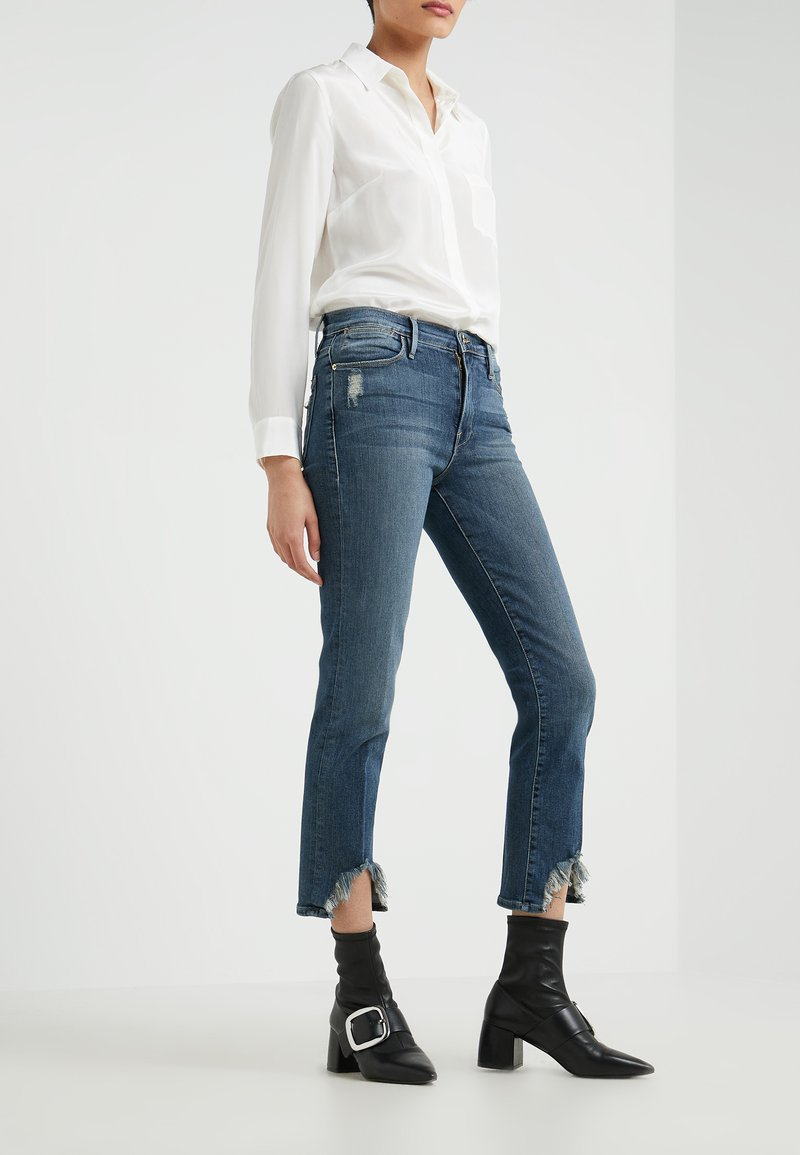 Frame Denim - LE HIGH FRONT CAVE HEM - Jeans straight leg - blue denim