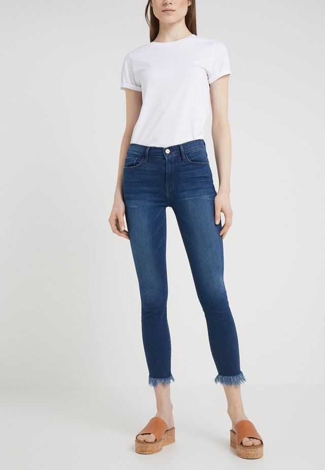 CROP MICRO SHREDDED RAW - Jeans Skinny Fit - cantine