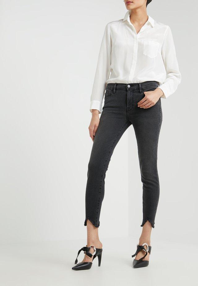 JEANNE CROP DOUBLE TRIANGLE RAW - Jeans Skinny Fit - grey denim