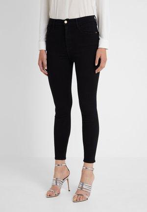 ALI HIGH RISE CIGARETTE - Jeans Straight Leg - noir