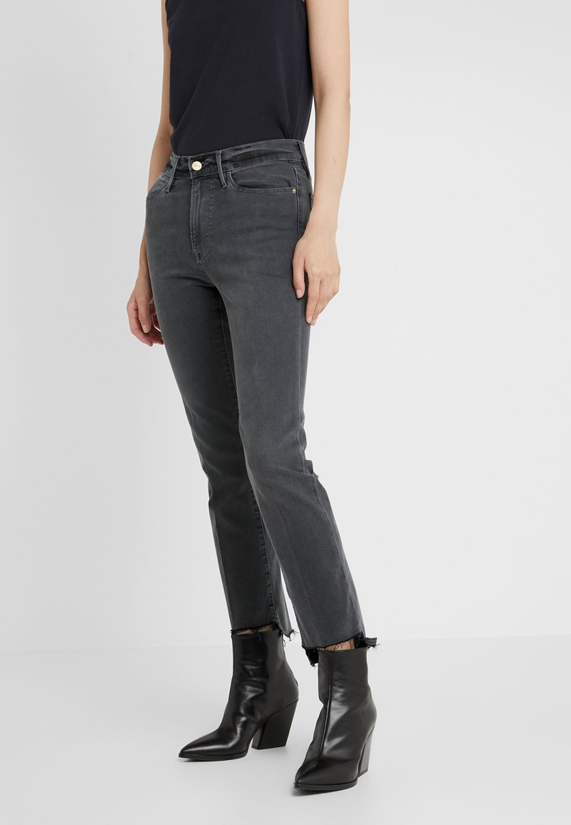 Frame Denim - LE HIGH RAW STAGGER - Jeansy Straight Leg - noise