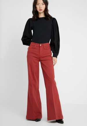 LE PALAZZO WIDE HEM PANT - Relaxed fit -farkut - fired brick