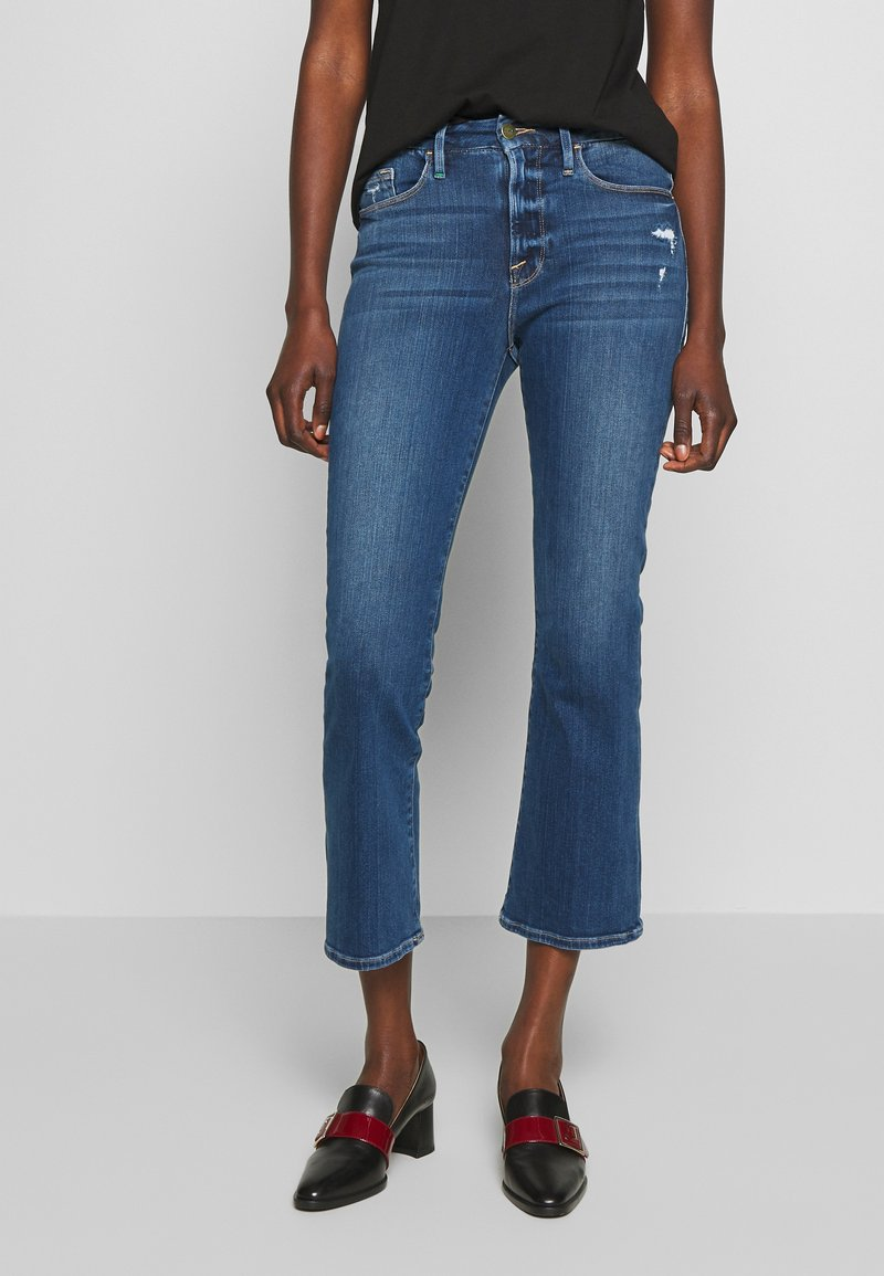 Frame Denim - LE CROP - Džíny Bootcut - blue denim