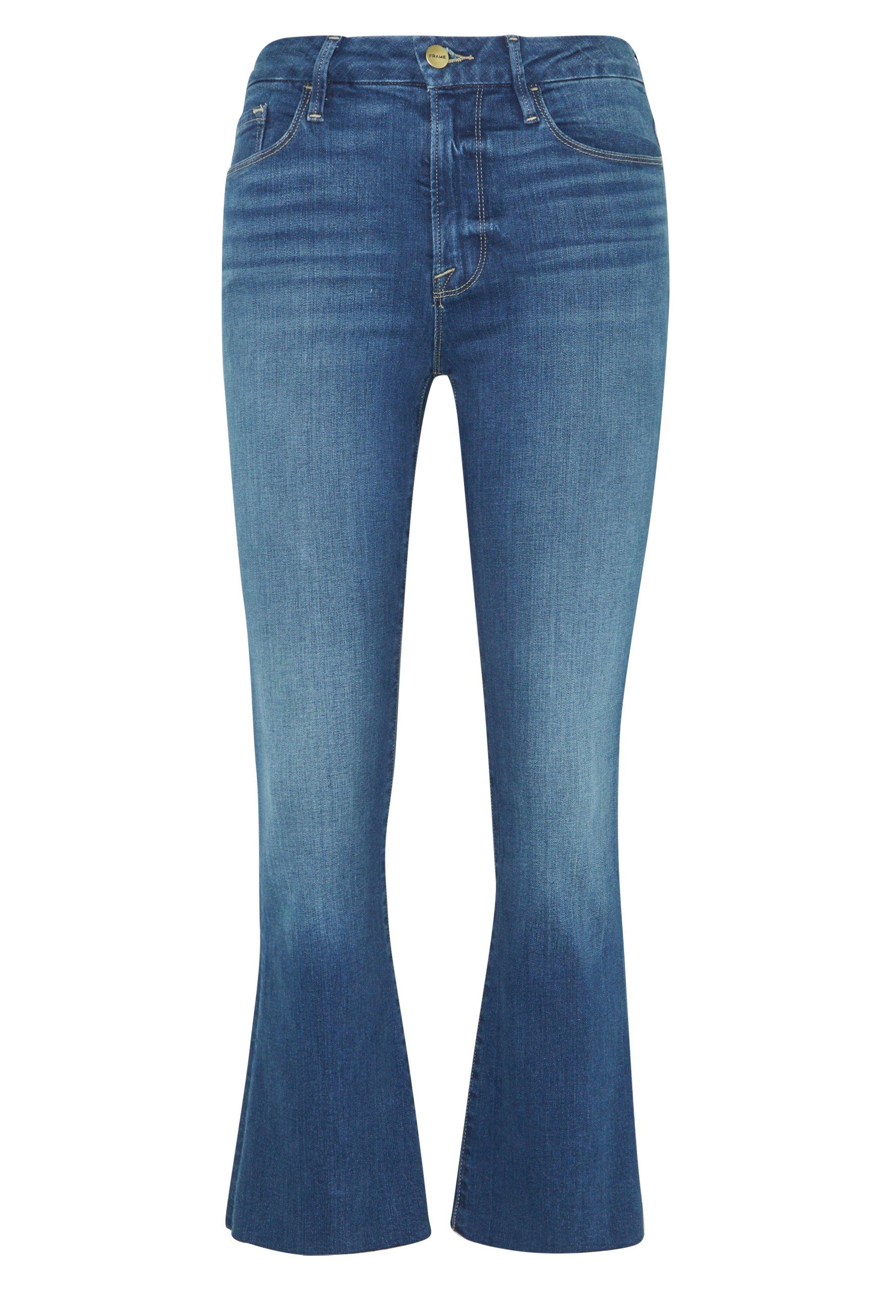 Frame Denim LE CROP MINI RAW EDGE - Jeansy Bootcut - blue denim