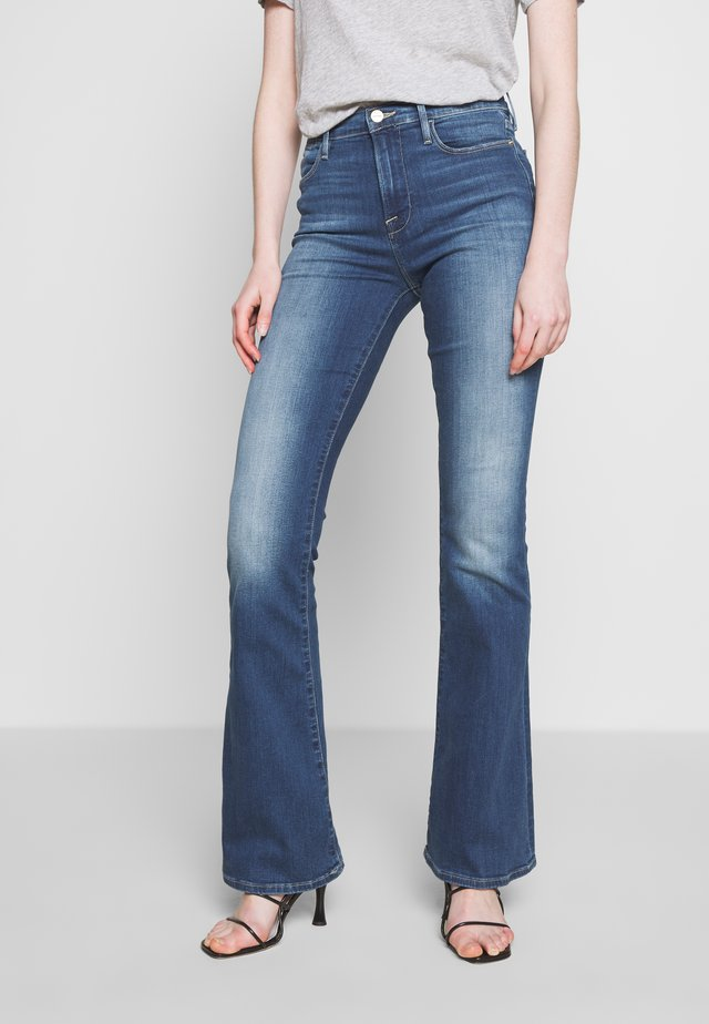 LE HIGH - Flared jeans - blue denim