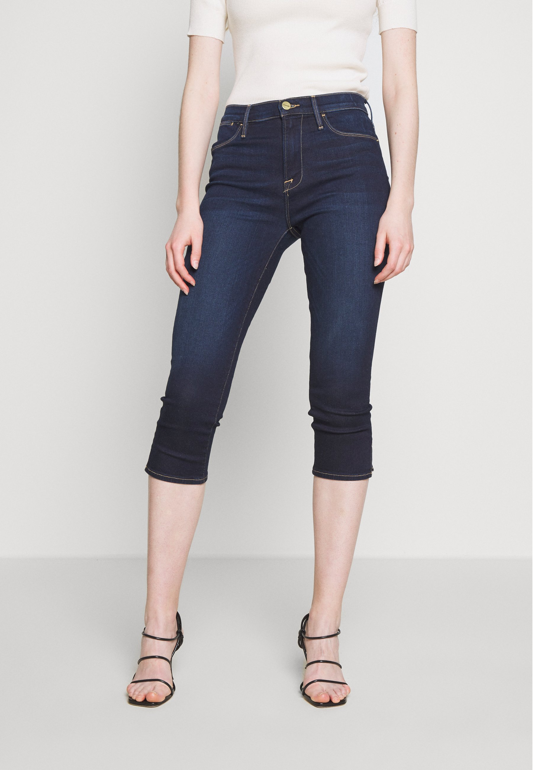 Frame Denim LE HIGH PEDAL PUSHER - Jeansy Skinny Fit - rinsed denim