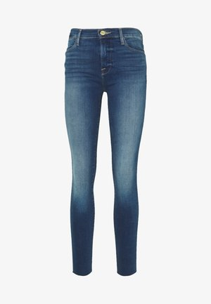 LE HIGH SKINNY RAW EDGE - Skinny džíny - blue denim