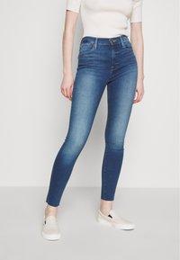 Frame Denim - LE HIGH SKINNY RAW EDGE - Skinny džíny - blue denim - 0