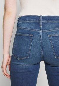 Frame Denim - LE HIGH SKINNY RAW EDGE - Skinny džíny - blue denim - 5
