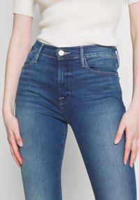 Frame Denim - LE HIGH SKINNY RAW EDGE - Skinny džíny - blue denim - 3