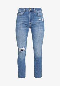 Frame Denim - DE JEANNE CROP RAW EDGE - Jeans Skinny Fit - blue denim - 3