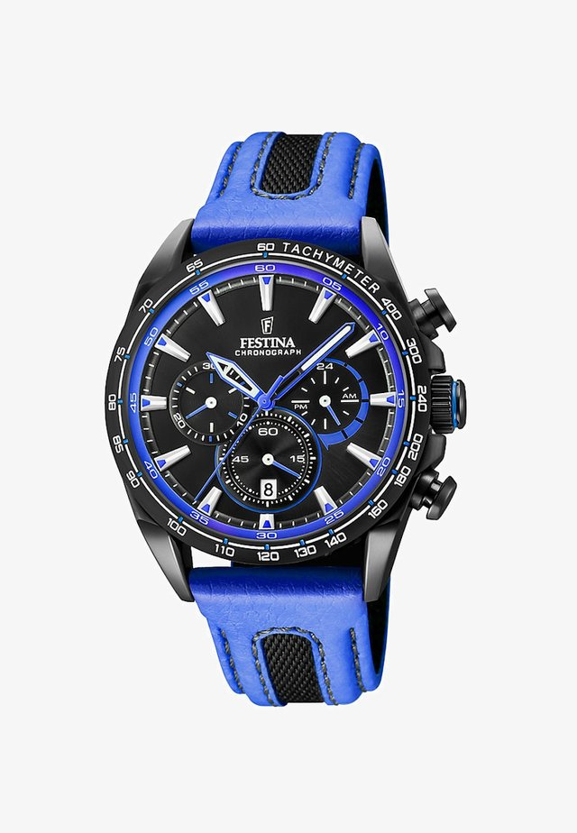 Chronograph watch - black/blue