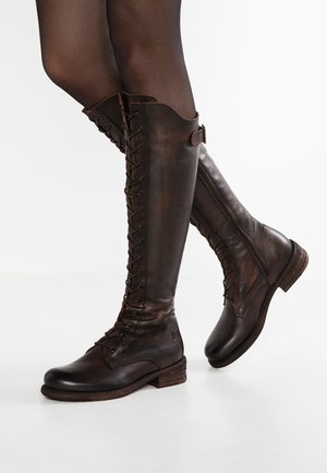 HARDY - Stivali con i lacci - targoff cotto