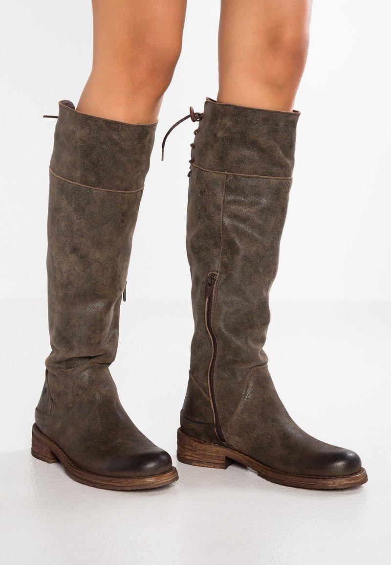 Felmini - COOPER - Lace-up boots - noumerat tobacco