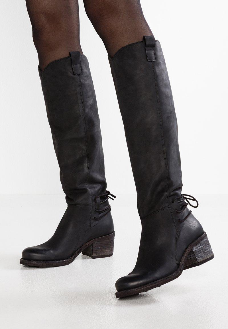 Felmini - GIANI - Lace-up boots - james black