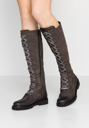 MARTA - Lace-up boots - morgan asfalto