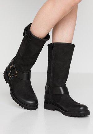 MARTA - Kovbojské/motorkářské boty - indigo/black