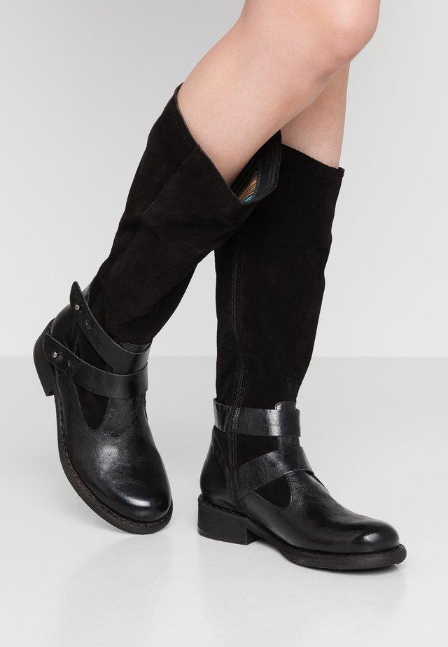 VITORIA - Kovbojské/motorkářské boty - black