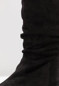 Felmini - EL PASO - Kozačky nad kolena - fat black - 2