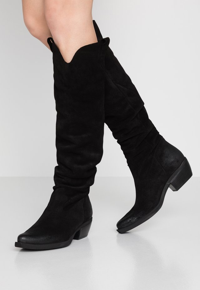 EL PASO - Over-the-knee boots - fat black