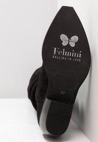 Felmini - EL PASO - Kozačky nad kolena - fat black - 6