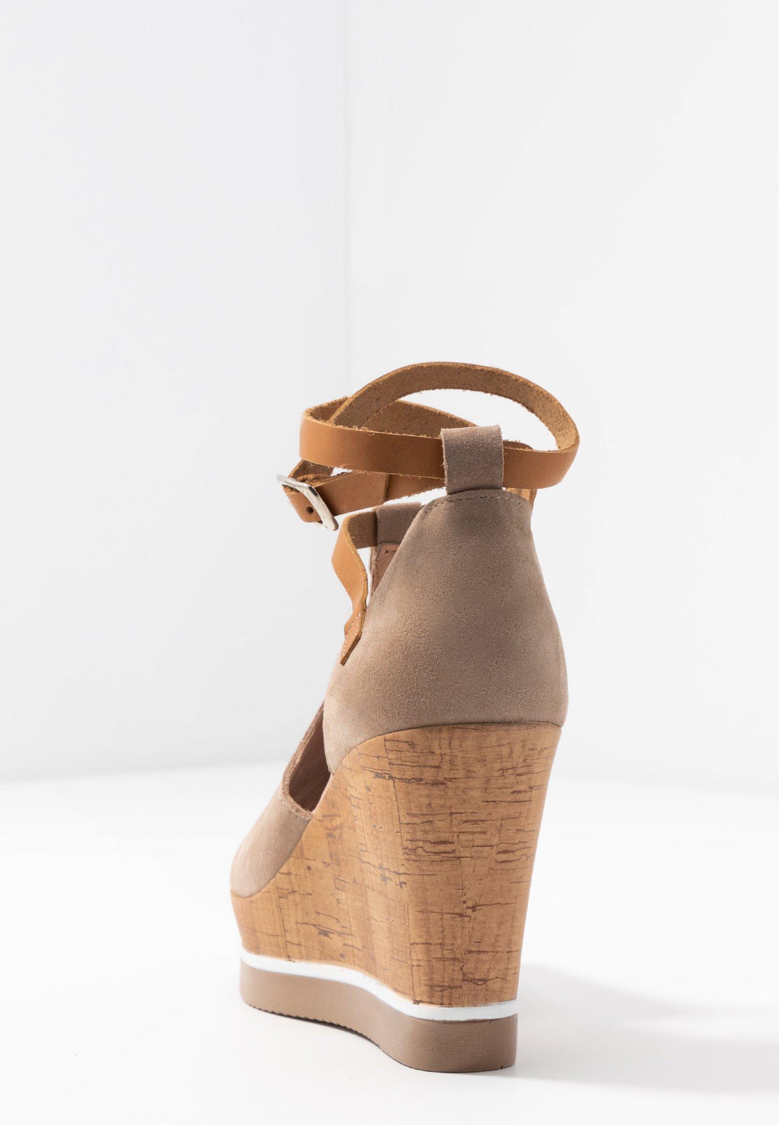 Felmini MARY - Sandales à talons hauts - taupe
