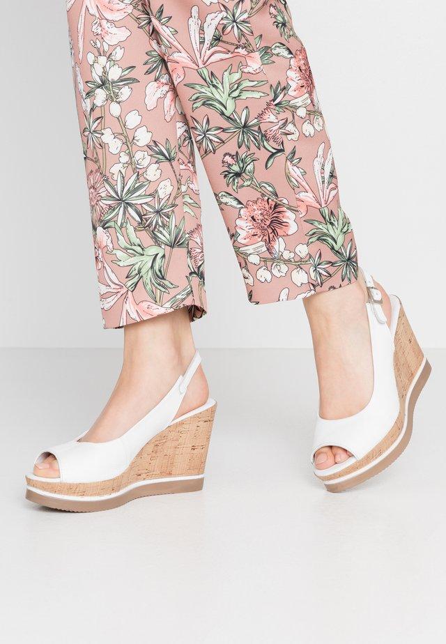 MARY - Sandalen met hoge hak - light white