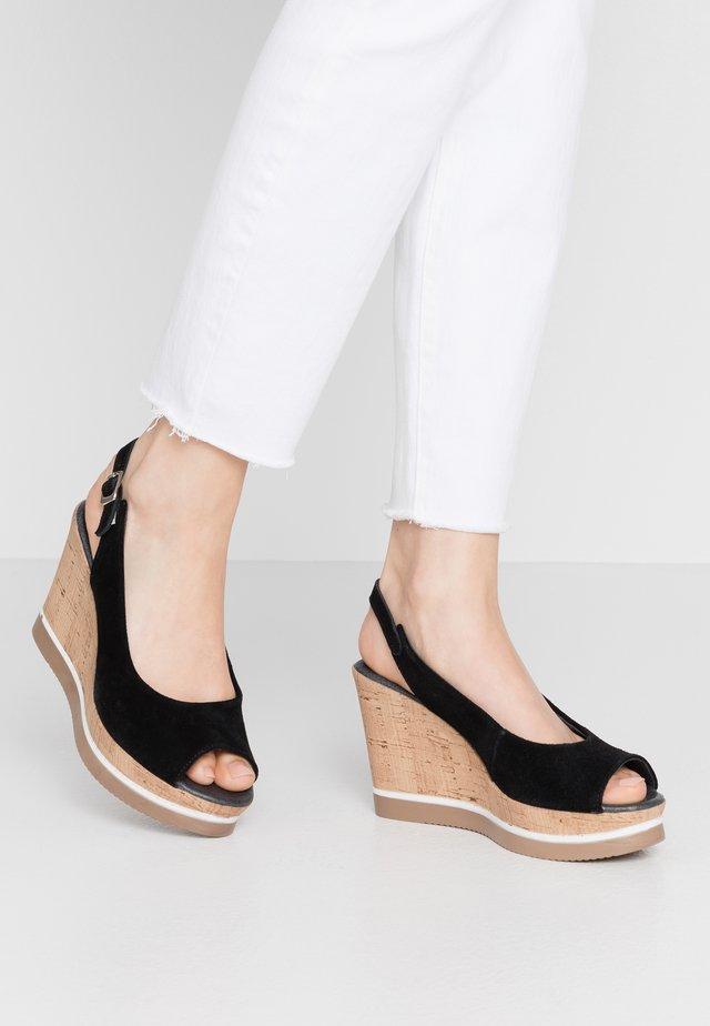 MARY - Sandály na vysokém podpatku - black