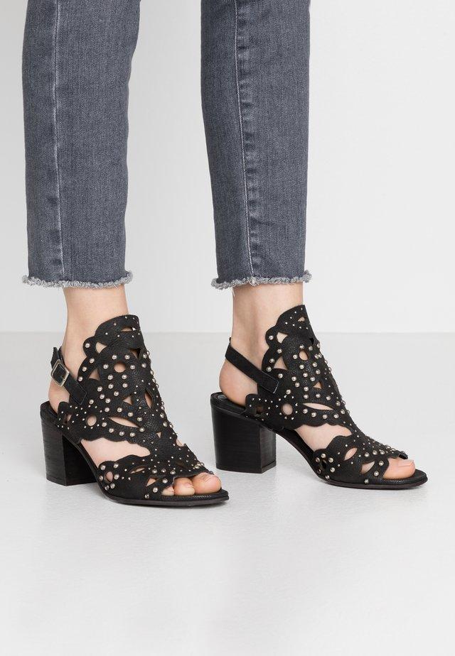 ARLENE - Sandaalit nilkkaremmillä - pacific black