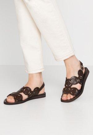 CAROLINA - Sandals - testa di moro