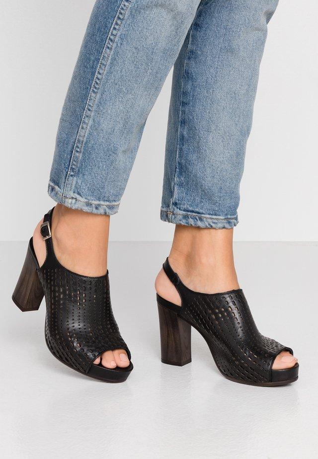 ELSA - High Heel Sandalette - light black