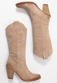 Felmini - STONES - Cowboy/Biker boots - taupe - 3