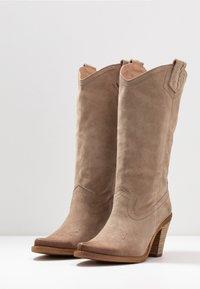 Felmini - STONES - Cowboy/Biker boots - taupe - 4