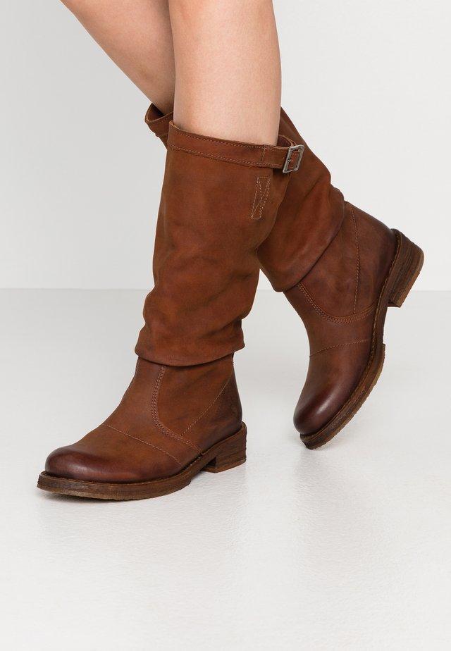 COOPER - Cowboystøvler - morat