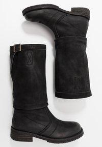 Felmini - COOPER - Kovbojské/motorkářské boty - morat black - 3