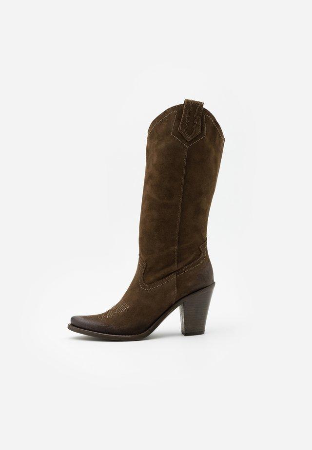STONES - Cowboystøvler - marvin olive