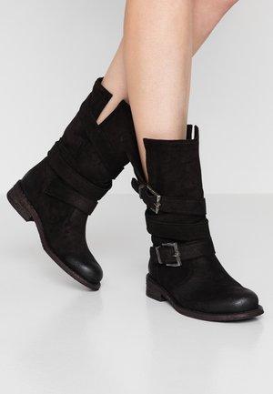 GREDO - Cowboy/Biker boots - fat black