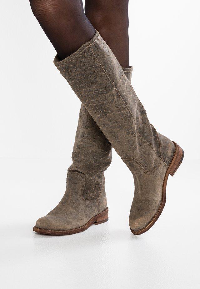 GREDO - Cowboy/Biker boots - tobacco
