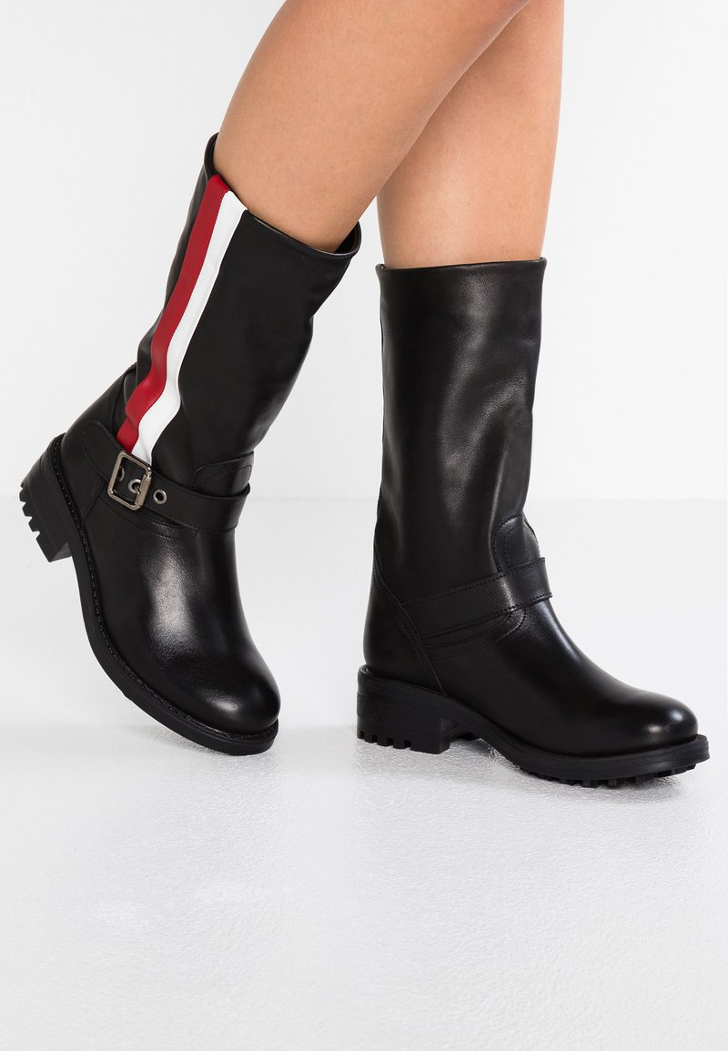 Felmini - JAYDINE - Cowboy/Biker boots - black/red/white