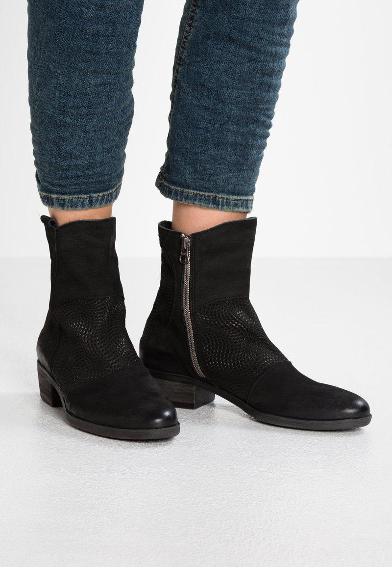 Felmini - GIN - Cowboy/biker ankle boot - pacific/onda black
